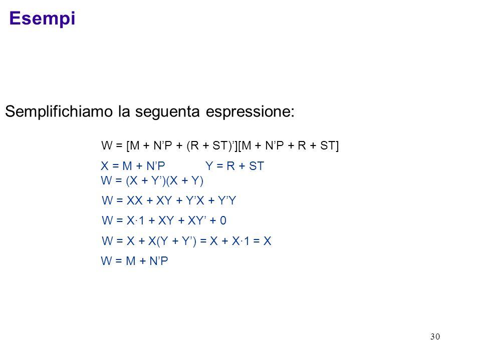 W = [M + N'P + (R + ST)'][M + N'P + R + ST]
